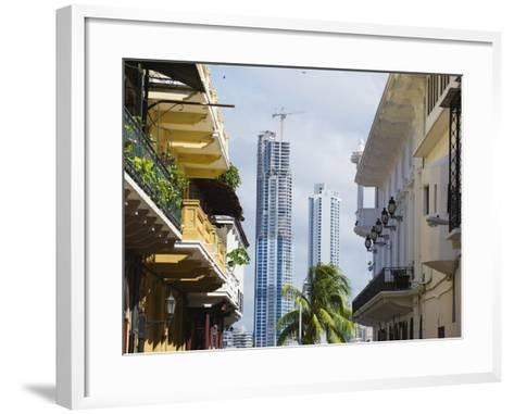 Modern Skyscrapers and Historical Old Town, UNESCO World Heritage Site, Panama City, Panama-Christian Kober-Framed Art Print