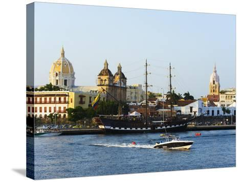 Harbour Area, Old Town, UNESCO World Heritage Site, Cartagena, Colombia, South America-Christian Kober-Stretched Canvas Print