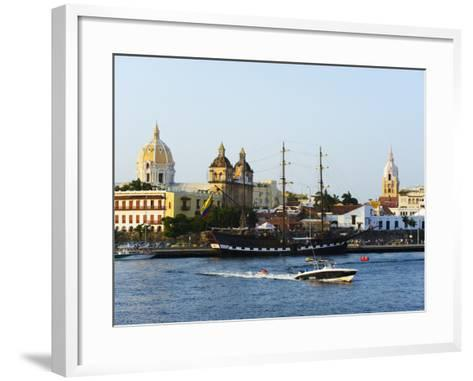 Harbour Area, Old Town, UNESCO World Heritage Site, Cartagena, Colombia, South America-Christian Kober-Framed Art Print
