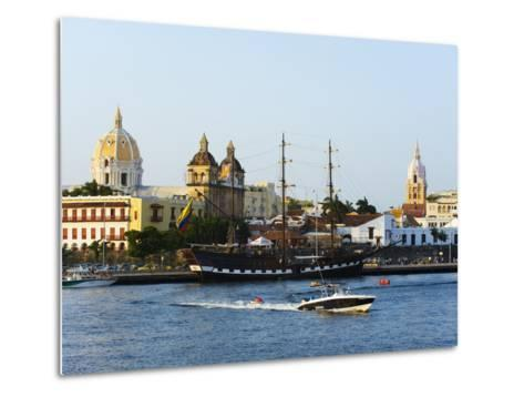 Harbour Area, Old Town, UNESCO World Heritage Site, Cartagena, Colombia, South America-Christian Kober-Metal Print