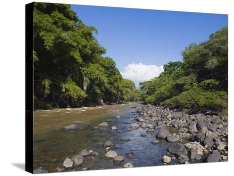 River in El Gallineral Park, San Gil, Colombia, South America-Christian Kober-Stretched Canvas Print