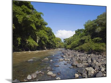River in El Gallineral Park, San Gil, Colombia, South America-Christian Kober-Mounted Photographic Print