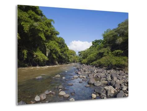 River in El Gallineral Park, San Gil, Colombia, South America-Christian Kober-Metal Print