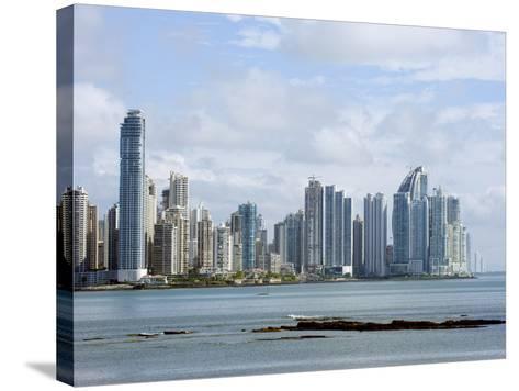 City Skyline, Panama City, Panama, Central America-Christian Kober-Stretched Canvas Print