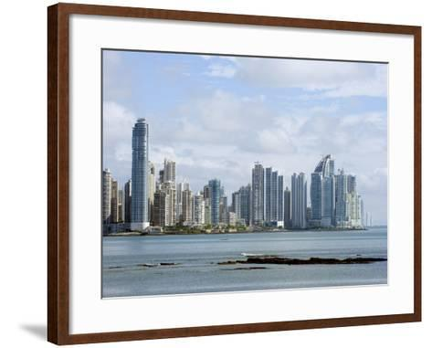 City Skyline, Panama City, Panama, Central America-Christian Kober-Framed Art Print