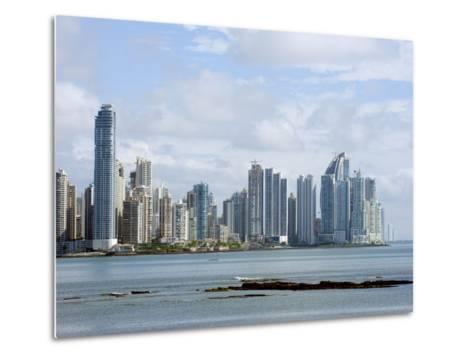 City Skyline, Panama City, Panama, Central America-Christian Kober-Metal Print