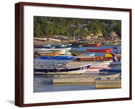 Taganga, Caribbean Coast, Colombia, South America-Christian Kober-Framed Art Print