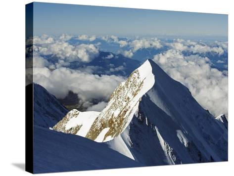 Aiguille De Bionnassay, 4052M, From Mont Blanc, Chamonix, French Alps, France, Europe-Christian Kober-Stretched Canvas Print
