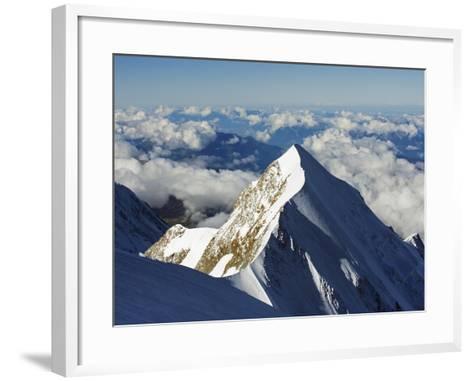 Aiguille De Bionnassay, 4052M, From Mont Blanc, Chamonix, French Alps, France, Europe-Christian Kober-Framed Art Print