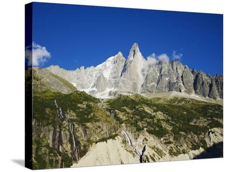 Aiguilles Du Dru, Mont Blanc Range, Chamonix, French Alps, France, Europe-Christian Kober-Stretched Canvas Print