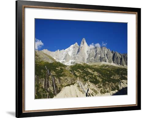 Aiguilles Du Dru, Mont Blanc Range, Chamonix, French Alps, France, Europe-Christian Kober-Framed Art Print