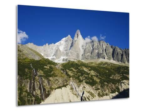 Aiguilles Du Dru, Mont Blanc Range, Chamonix, French Alps, France, Europe-Christian Kober-Metal Print