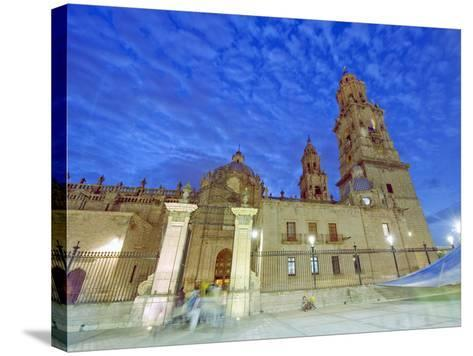 Cathedral, Morelia, Michoacan State, Mexico, North America-Christian Kober-Stretched Canvas Print