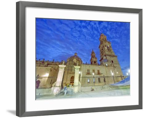 Cathedral, Morelia, Michoacan State, Mexico, North America-Christian Kober-Framed Art Print