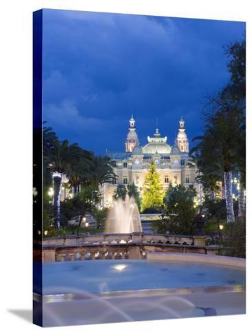 Monte Carlo Casino, Monte Carlo, Principality of Monaco, Cote D'Azur, Europe-Christian Kober-Stretched Canvas Print