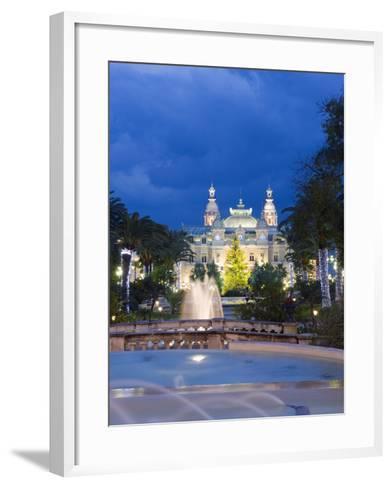 Monte Carlo Casino, Monte Carlo, Principality of Monaco, Cote D'Azur, Europe-Christian Kober-Framed Art Print