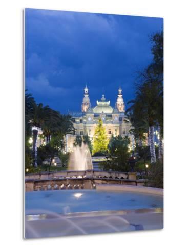 Monte Carlo Casino, Monte Carlo, Principality of Monaco, Cote D'Azur, Europe-Christian Kober-Metal Print