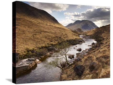 Glen Etive, Near Glen Coe (Glencoe), Highland Region, Scotland, Uk-Patrick Dieudonne-Stretched Canvas Print