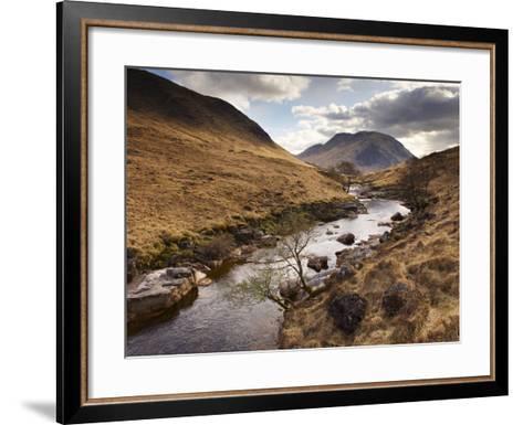 Glen Etive, Near Glen Coe (Glencoe), Highland Region, Scotland, Uk-Patrick Dieudonne-Framed Art Print