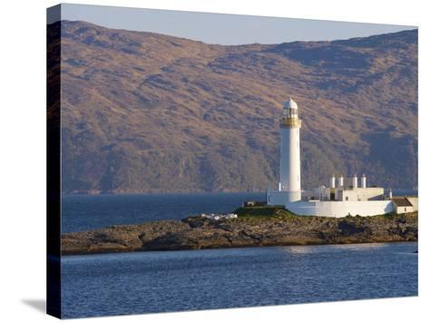 Lismore Lighthouse From the Craignure-Oban Ferry, Highlands, Scotland, United Kingdom, Europe-Patrick Dieudonne-Stretched Canvas Print