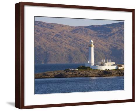 Lismore Lighthouse From the Craignure-Oban Ferry, Highlands, Scotland, United Kingdom, Europe-Patrick Dieudonne-Framed Art Print