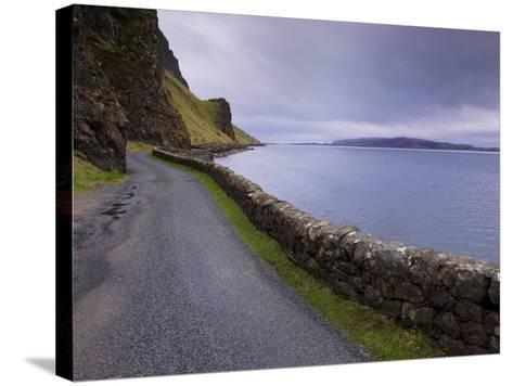 Road and Loch Na Keal, Isle of Mull, Inner Hebrides, Scotland, United Kingdom, Europe-Patrick Dieudonne-Stretched Canvas Print