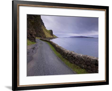 Road and Loch Na Keal, Isle of Mull, Inner Hebrides, Scotland, United Kingdom, Europe-Patrick Dieudonne-Framed Art Print