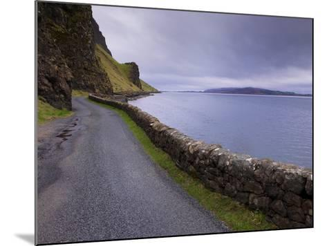 Road and Loch Na Keal, Isle of Mull, Inner Hebrides, Scotland, United Kingdom, Europe-Patrick Dieudonne-Mounted Photographic Print
