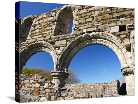 Iona Nunnery, Nave Arcades in the Nunnery Church, Iona, Inner Hebrides, Scotland-Patrick Dieudonne-Stretched Canvas Print