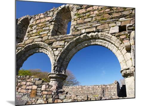 Iona Nunnery, Nave Arcades in the Nunnery Church, Iona, Inner Hebrides, Scotland-Patrick Dieudonne-Mounted Photographic Print