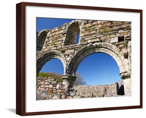 Iona Nunnery, Nave Arcades in the Nunnery Church, Iona, Inner Hebrides, Scotland-Patrick Dieudonne-Framed Art Print
