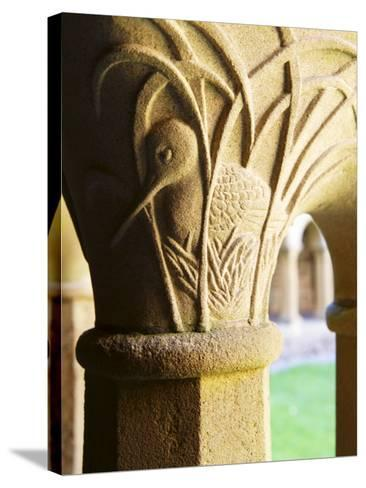 Finely Carved Capitals in the Cloisters, Iona Abbey, Isle of Iona, Scotland, United Kingdom, Europe-Patrick Dieudonne-Stretched Canvas Print