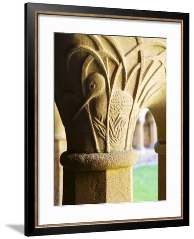 Finely Carved Capitals in the Cloisters, Iona Abbey, Isle of Iona, Scotland, United Kingdom, Europe-Patrick Dieudonne-Framed Art Print