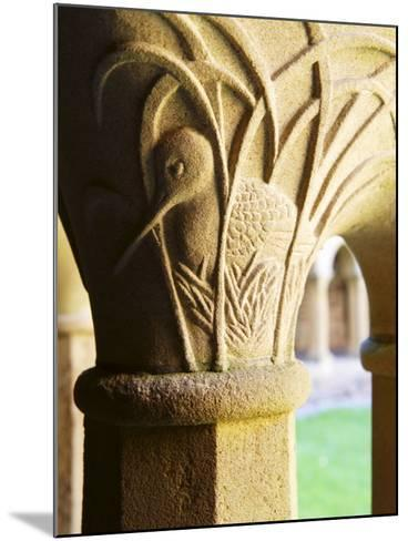 Finely Carved Capitals in the Cloisters, Iona Abbey, Isle of Iona, Scotland, United Kingdom, Europe-Patrick Dieudonne-Mounted Photographic Print