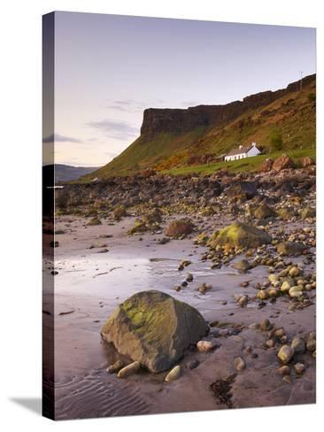 Sunset on Loch Na Keal, Isle of Mull, Inner Hebrides, Scotland, United Kingdom, Europe-Patrick Dieudonne-Stretched Canvas Print