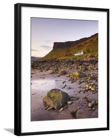 Sunset on Loch Na Keal, Isle of Mull, Inner Hebrides, Scotland, United Kingdom, Europe-Patrick Dieudonne-Framed Art Print