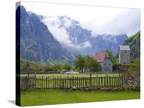 Lock-In Tower in Thethi in the Albanian Alps, Albania, Europe-Michael Runkel-Stretched Canvas Print