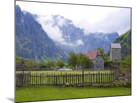 Lock-In Tower in Thethi in the Albanian Alps, Albania, Europe-Michael Runkel-Mounted Photographic Print