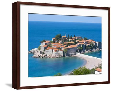 Sveti Stefan, Seaside Resort in Western Montenegro, Europe-Michael Runkel-Framed Art Print
