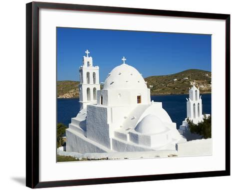 Agia Irini Church Near the Harbour, Ormos, Ios Island, Cyclades, Greek Islands, Greece, Europe--Framed Art Print