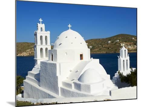 Agia Irini Church Near the Harbour, Ormos, Ios Island, Cyclades, Greek Islands, Greece, Europe--Mounted Photographic Print