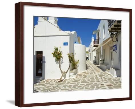 Parikia (Hora), Paros Island, Cyclades, Greek Islands, Greece, Europe--Framed Art Print
