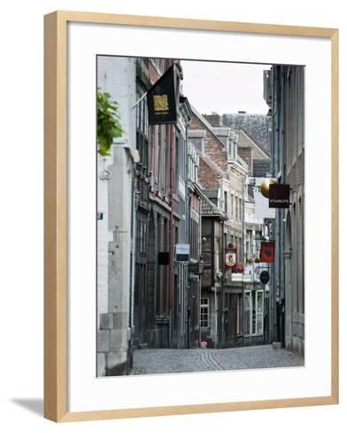 Stokstraat (Stok Street), Maastricht, Limburg, the Netherlands, Europe-Emanuele Ciccomartino-Framed Art Print
