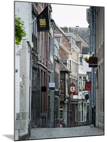 Stokstraat (Stok Street), Maastricht, Limburg, the Netherlands, Europe-Emanuele Ciccomartino-Mounted Photographic Print