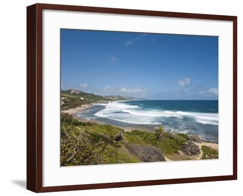 Bathsheba Beach, Barbados, Windward Islands, West Indies, Caribbean, Central America-Michael DeFreitas-Framed Art Print