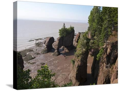 Hopewell Rocks and the Ocean Tidal Exploration Site, New Brunswick, Canada, North America-Michael DeFreitas-Stretched Canvas Print