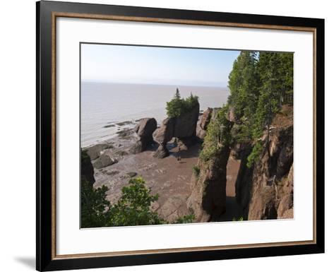 Hopewell Rocks and the Ocean Tidal Exploration Site, New Brunswick, Canada, North America-Michael DeFreitas-Framed Art Print