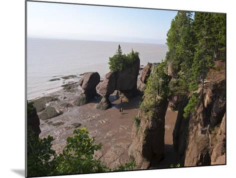 Hopewell Rocks and the Ocean Tidal Exploration Site, New Brunswick, Canada, North America-Michael DeFreitas-Mounted Photographic Print