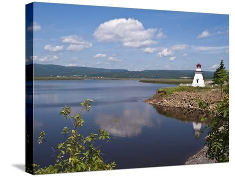 Anderson Hallow Lighthouse in Riverside-Albert, New Brunswick, Canada, North America-Michael DeFreitas-Stretched Canvas Print