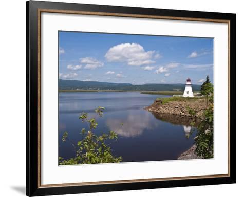 Anderson Hallow Lighthouse in Riverside-Albert, New Brunswick, Canada, North America-Michael DeFreitas-Framed Art Print